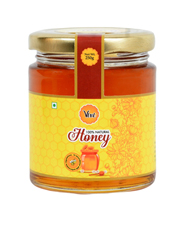 Allied Natural Honey Packed in Glass Round Shape Bottle