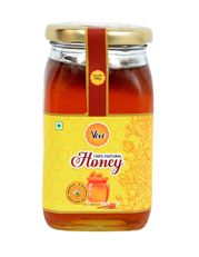 Allied Natural Honey Packed in Glass Square Shape Bottle