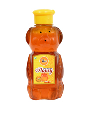 Natural Honey Packed in Pet Bear Shape Bottle
