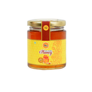 Natural Honey Packed in Glass Round Shape Bottle