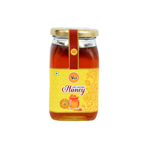 Natural Honey Packed in Glass Square Shape Bottle