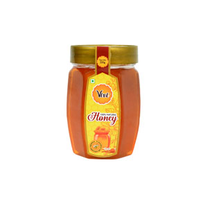 Natural Honey Packed in Pet Hexa Shape Bottle