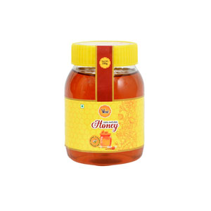 Natural Honey Packed in Pet Round Shape Bottle