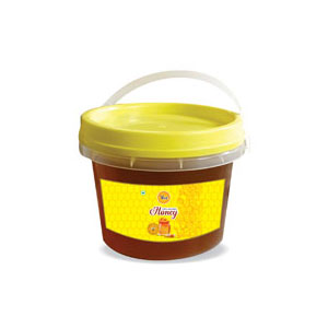 Natural Honey Packed in Institutional Transparent Bucket